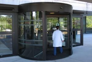 Revolving Hospital Door