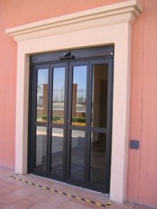 Double Glass Bi-Folding Door Dark
