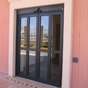 Double Glass Bi-Folding Door Dark Thumb