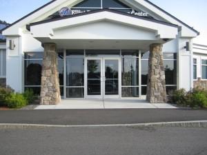 Elliot Hospital urgent care swinging door entrance