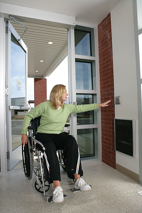 Handicap Access Button for Swinging Door & Handicap Access Doors Boston