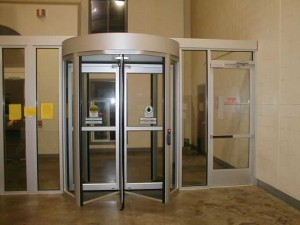 Control Flow Rotating Security Door