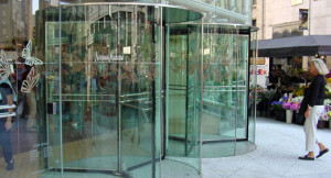 Horton Elegant Revolving Door Retail Entrance