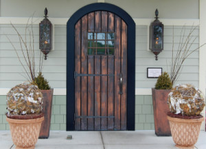 copper Swinging Door